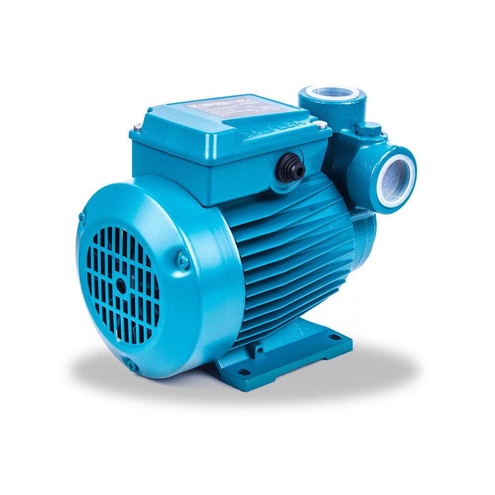 Bomba de agua periferica de color azul