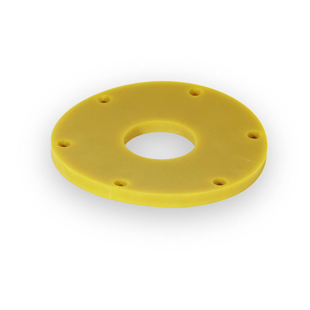 junta de goma de color amarilla plana