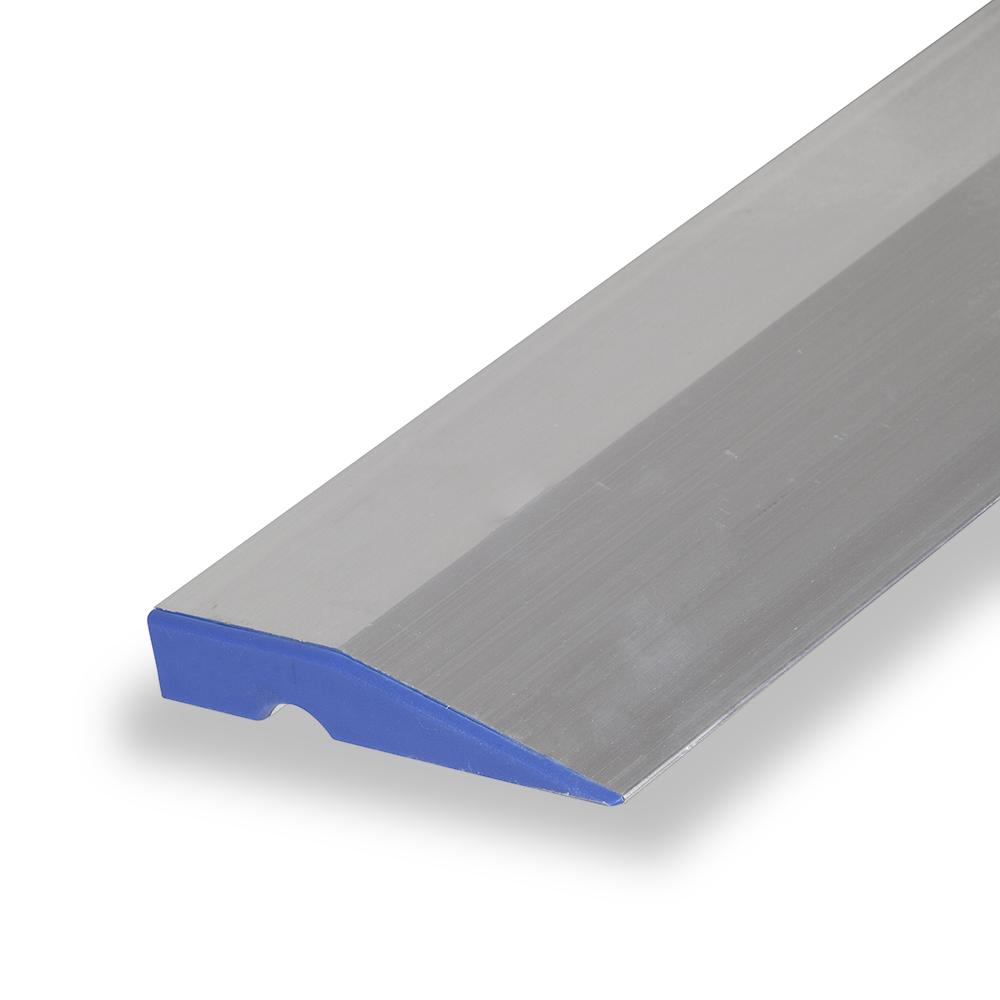 regla trapezoidal con tapa de color azul