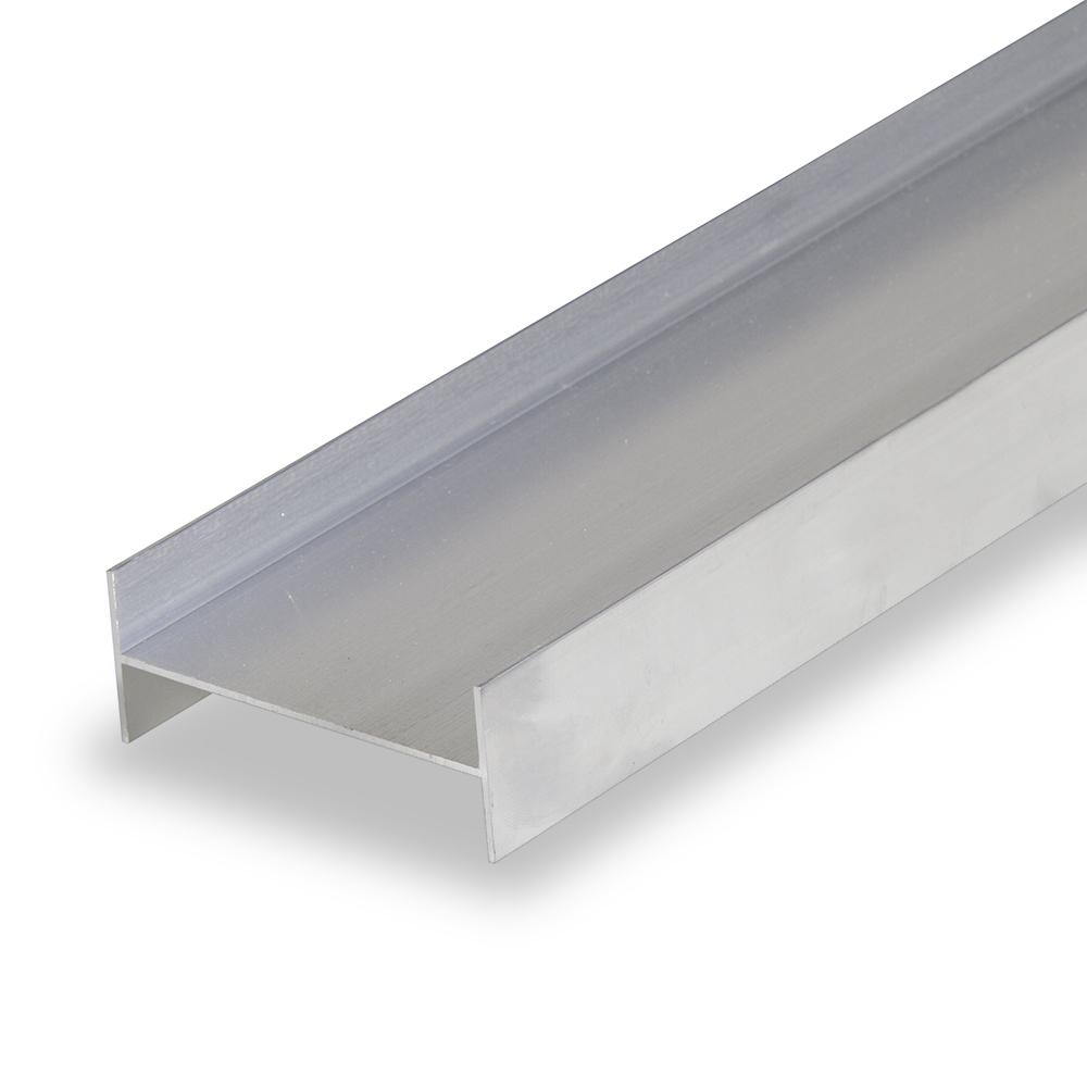 regla de aluminio con doble T 1200 mm