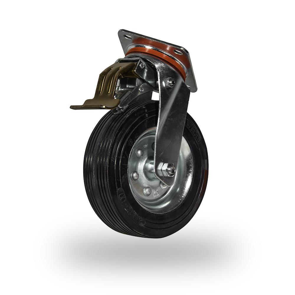 rueda de maquina con plataforma y freno