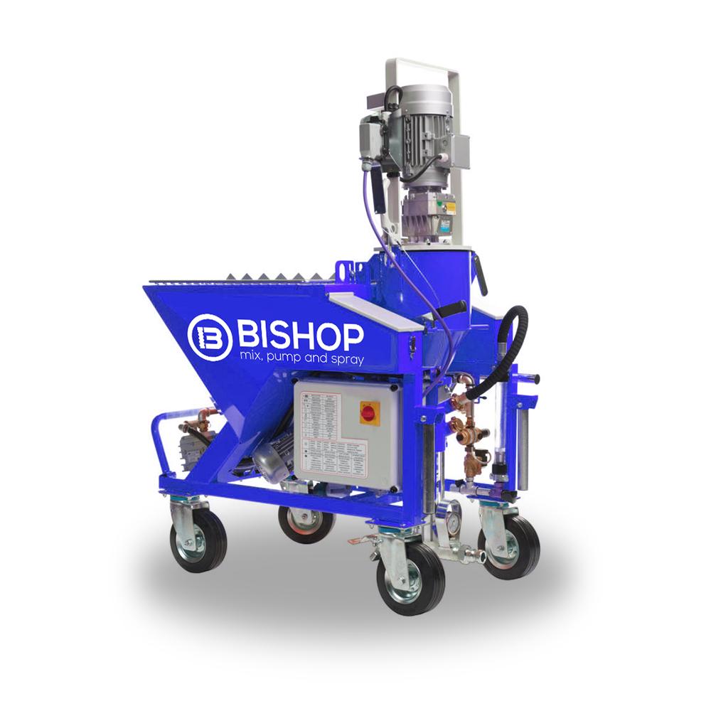 Maquina monofasica para proyectar yeso y mortero