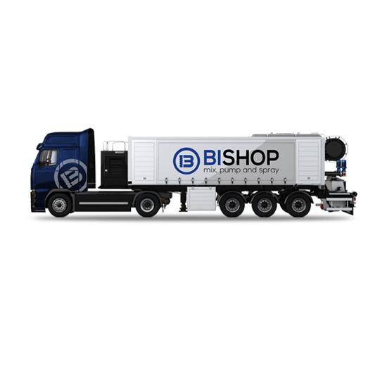 Camion diseñado como planta de autonivelante movil