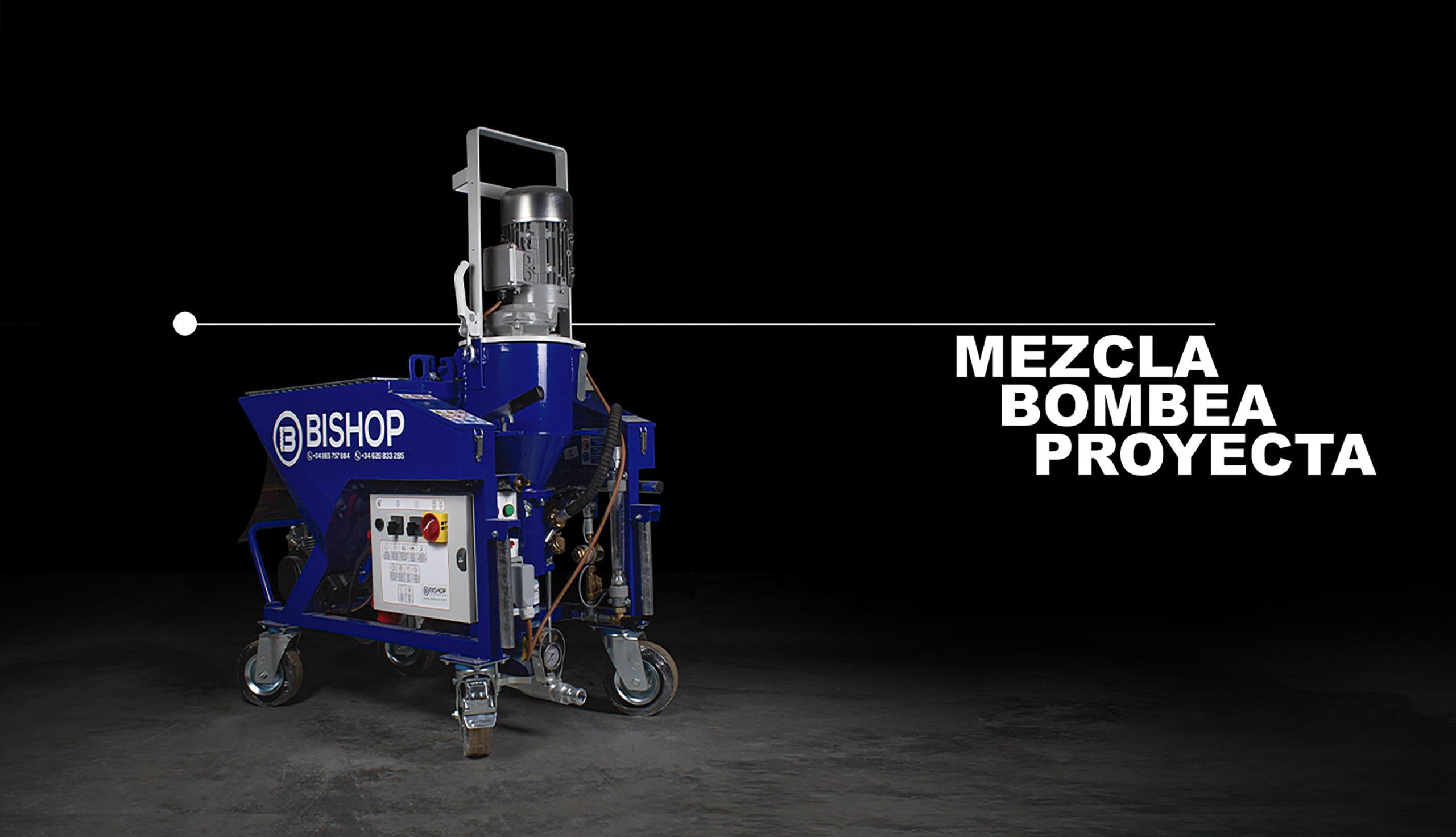 ob-pro 50 bishop maquinas para proyeccion bombeo y mezcla