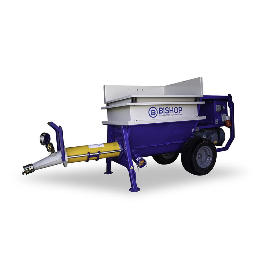 maquina para gunite y autonivelante bishop 100 x
